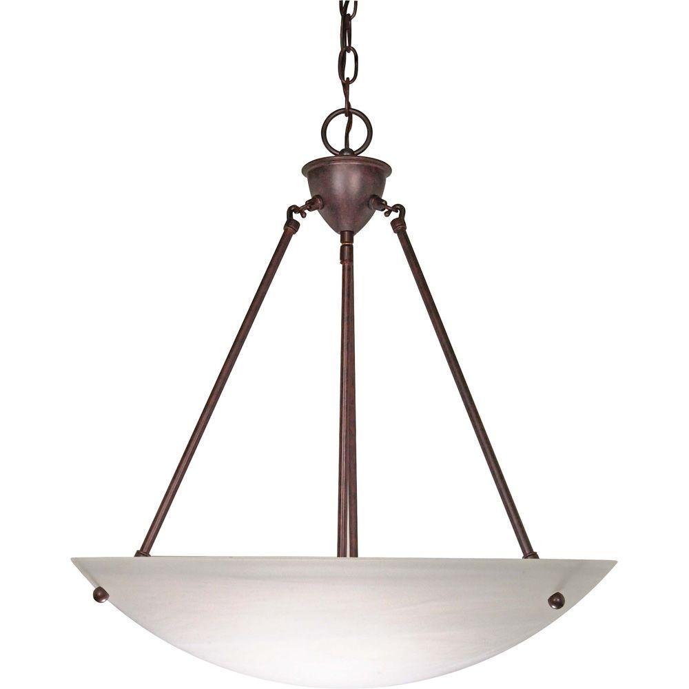 Bertha Glamor 3-Light Old Bronze Pendant