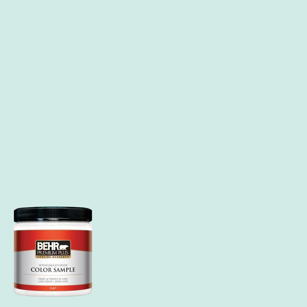 BEHR Premium Plus 8 oz. #490C-2 Adriatic Mist Interior/Exterior Paint Sample