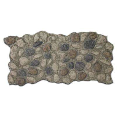 51 in. x 27 in. Polyurethane River Rock Faux Stone Panel in Light Gray