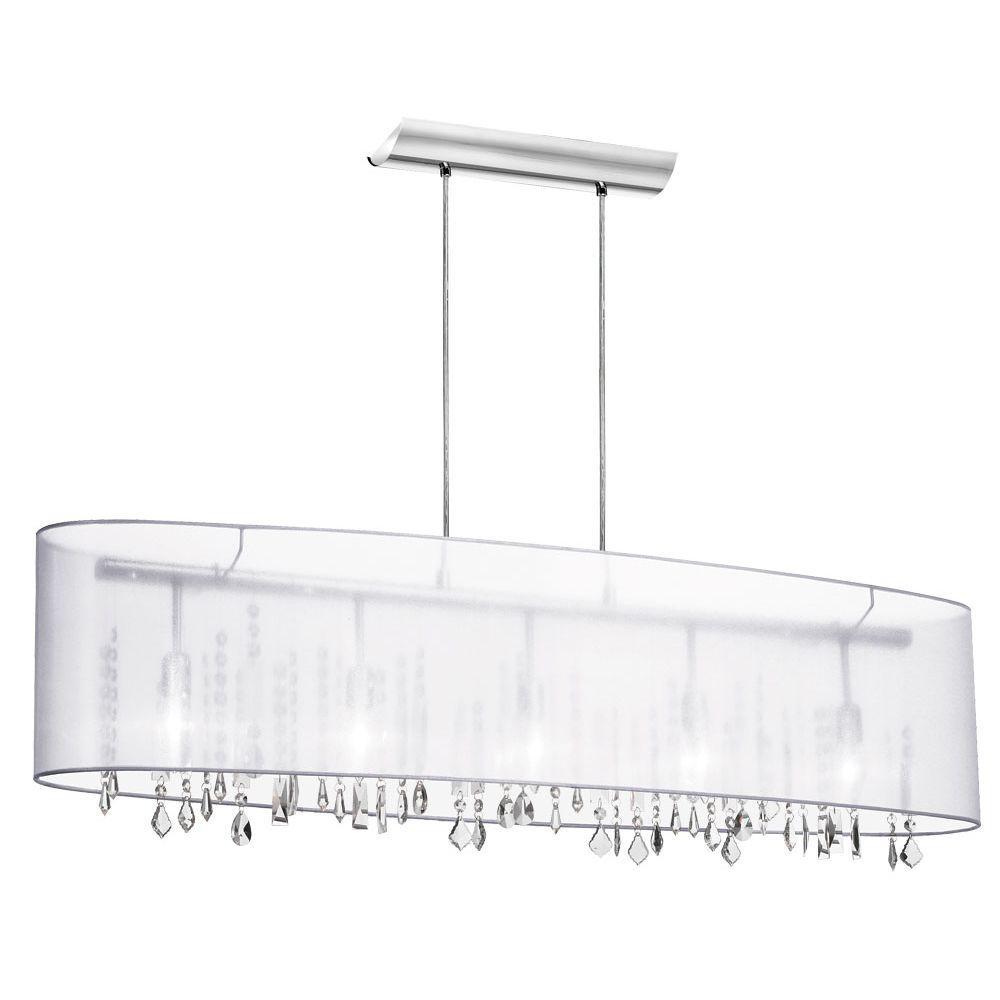 Filament Design Catherine 5-Light Ceiling Polished Chrome Incandescent Chandelier