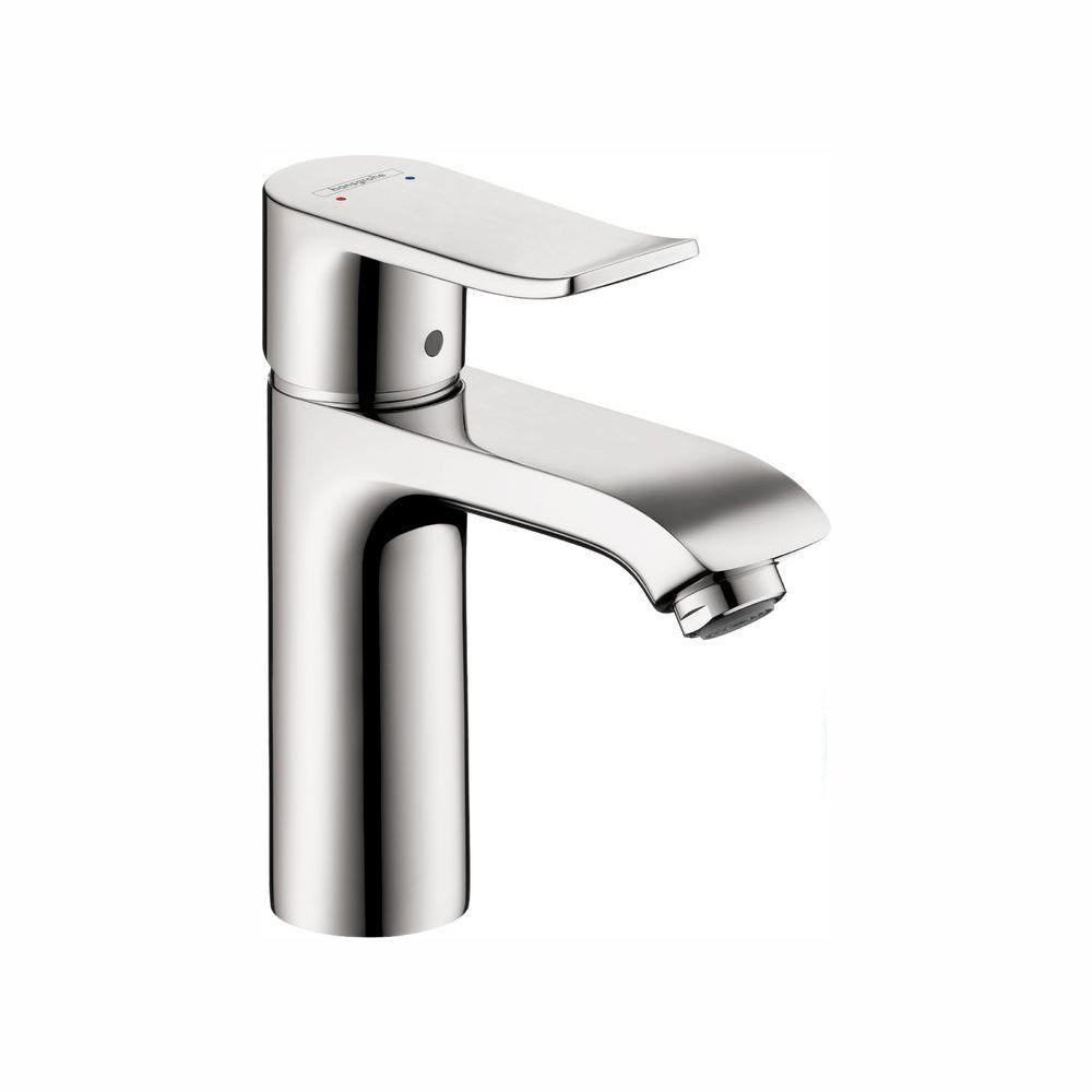 Hansgrohe Metris Single Hole 1-Handle Low-Arc Bathroom Faucet in Chrome