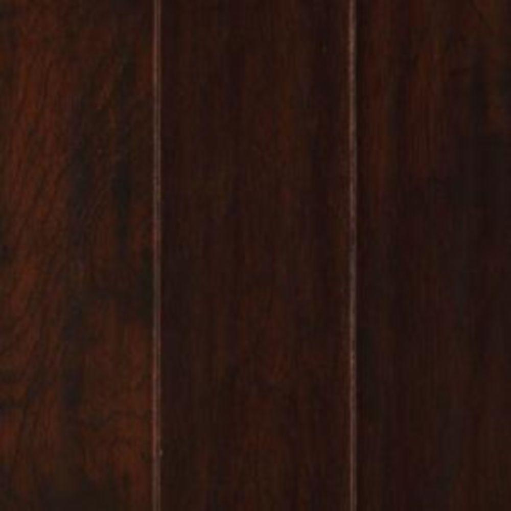 Mohawk Take Home Sample - Chocolate Hickory Engineered Hardwood Flooring - 5 in. x 7 in.