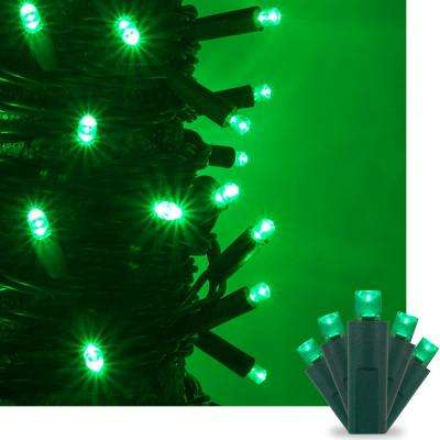 17 ft. 50-Light Green 5 mm LED Mini Light Set