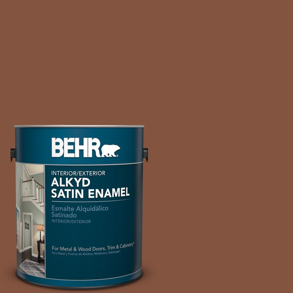 1 gal. #S210-7 October Leaves Satin Enamel Alkyd Interior/Exterior Paint