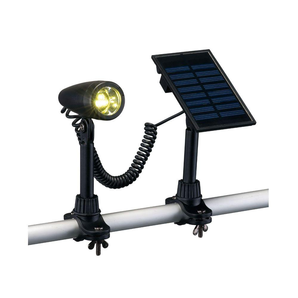 Hampton Bay Outdoor Black Solar 3-LED Flag Light
