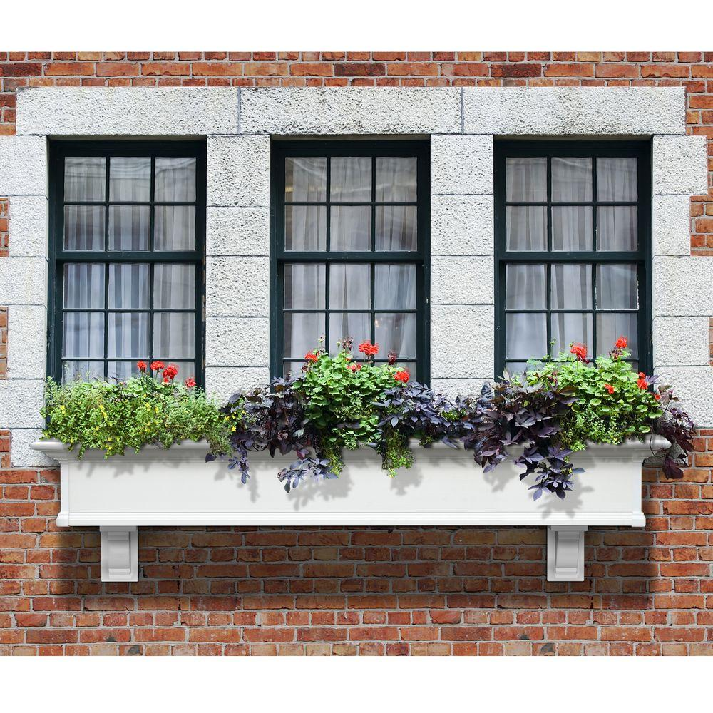 Yorkshire 12 in. x 72 in. Vinyl Window Box