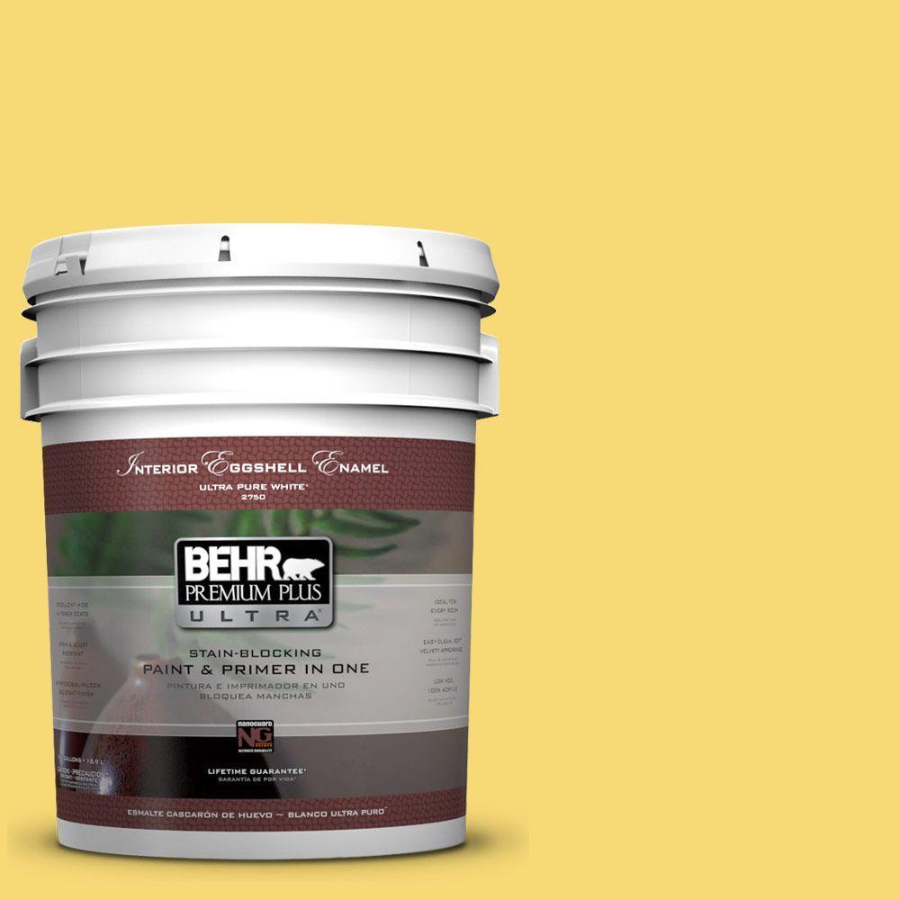 BEHR Premium Plus Ultra 5-gal. #P310-5 Solar Energy Eggshell Enamel Interior Paint