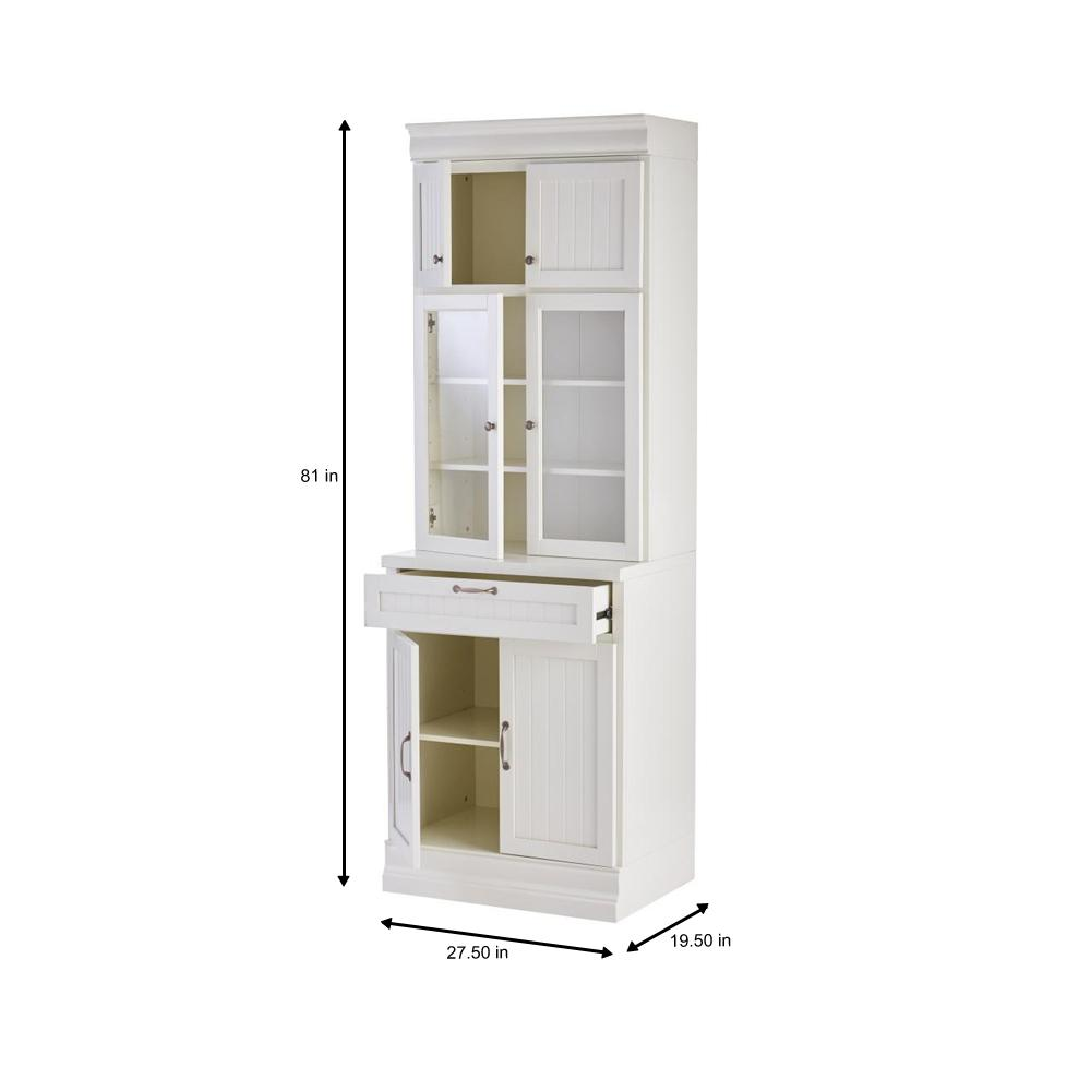 Linon Home Decor Largo Antique Turquoise Storage Cabinet