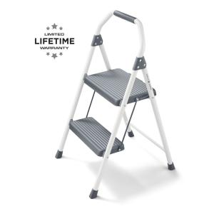 Gorilla Ladders 2-Step Compact Steel Step Stool with, 225 lbs. Load Capacity Type II Duty Rating