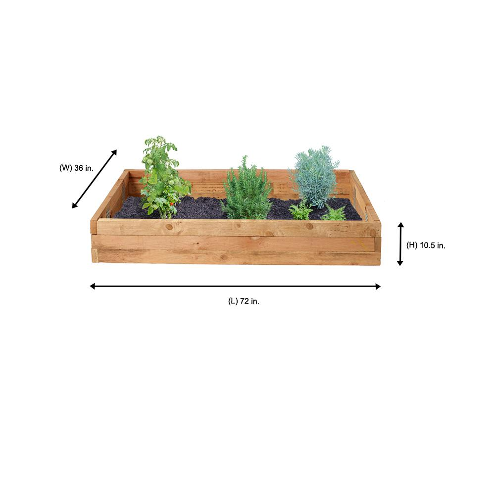 Outdoor Essentials 3 Ft X 6 Ft Western Red Cedar Raised Garden