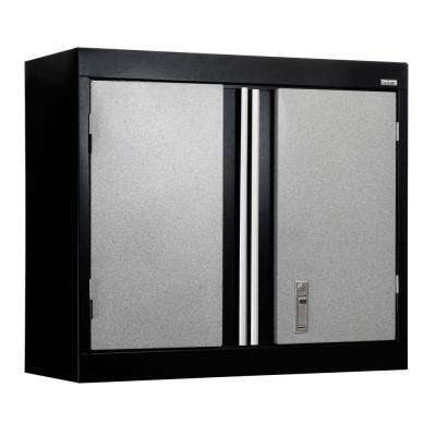 26 in. H x 30 in. W x 12 in. D Modular Steel Wall Cabinet Full Pull in Black/Multi-Granite