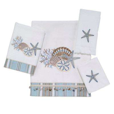 By The Sea 4-Piece Bath Towel Set in White