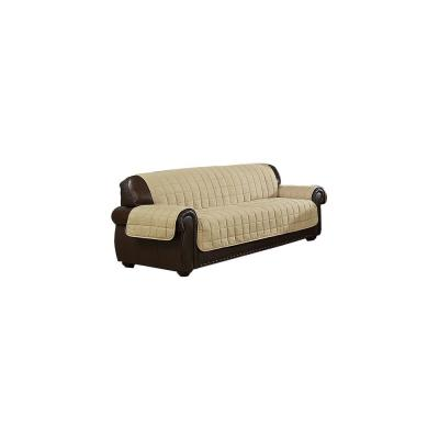 Joseph Water Resistant Taupe-Mocha Fit Polyester Fit Sofa Slip Cover