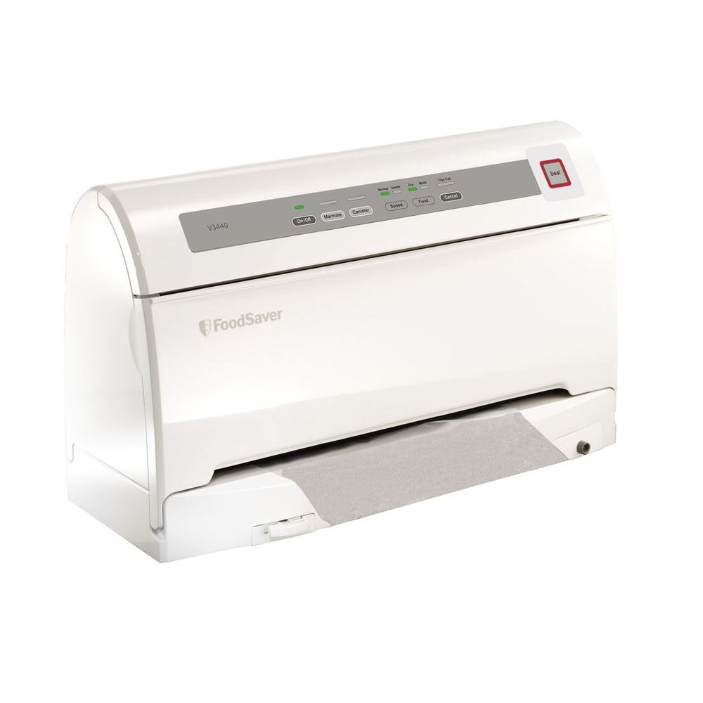 FoodSaver Vertical Vacuum Sealer Kit in White-DISCONTINUED