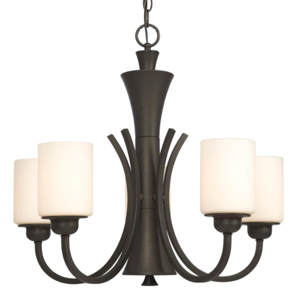 negron 5light oilrubbed bronze chandelier