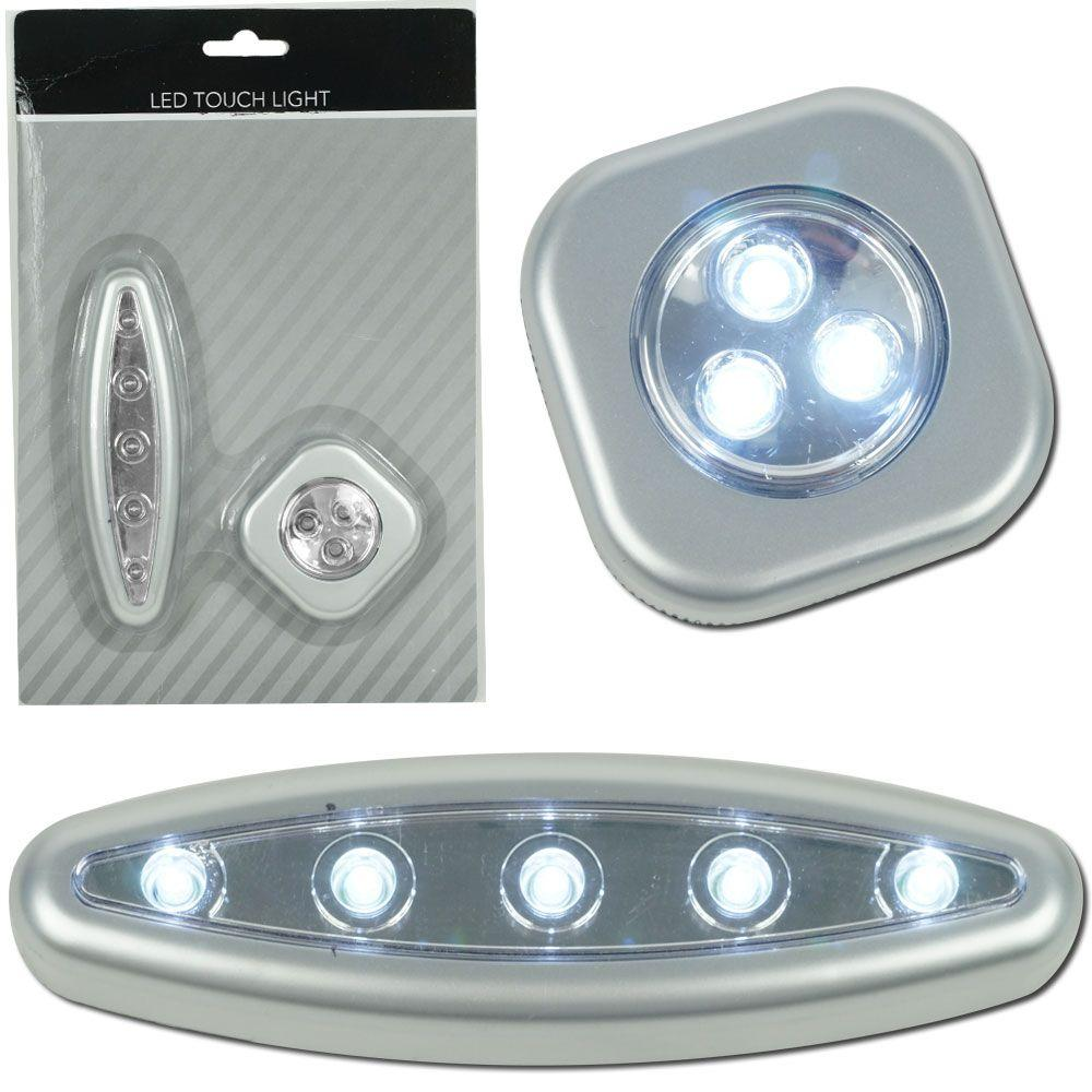Trademark 3 and 5 LED Touch Light Set with Mounts-DISCONTINUED