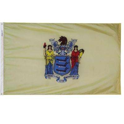 3 ft. x 5 ft. New Jersey State Flag