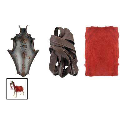 Dress Up Accessory For Skeleton Horse including Mask, Red Cloak, Bride