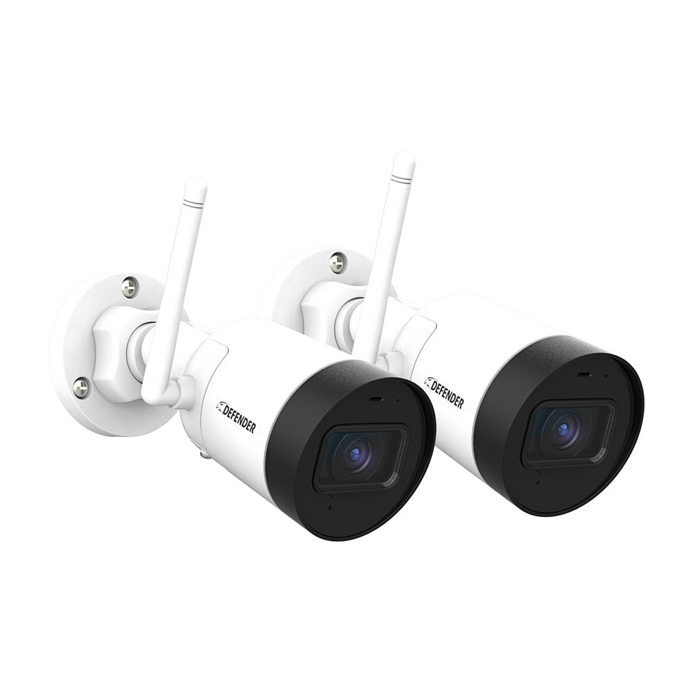 Guard Bullet Outdoor 2K(4MP) IP Wireless Security Surveillance Camera with No Monthly Fees and Wide Angle Lens (2-Pack)