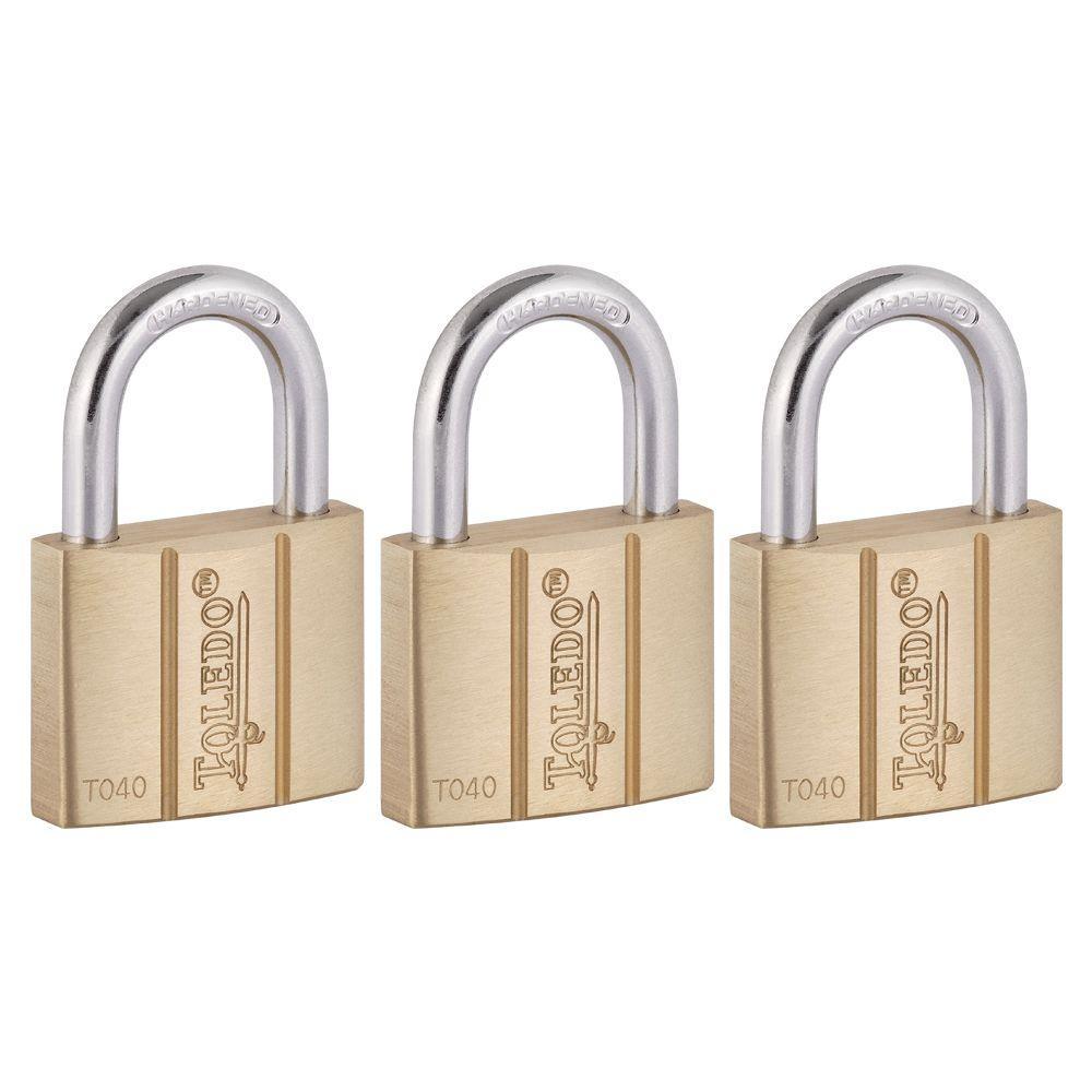 Brass Keyed Padlock (3-Pack)