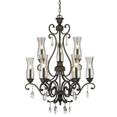 Havana 9-Light Golden Bronze Chandelier
