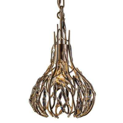 Bask 1-Light Gold Dust Mini Pendant with Clear Premium Crystal Accents