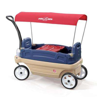 Whisper Ride Touring Wagon II 3-in-1 Toddler Outdoor Canopy Pull Wagon