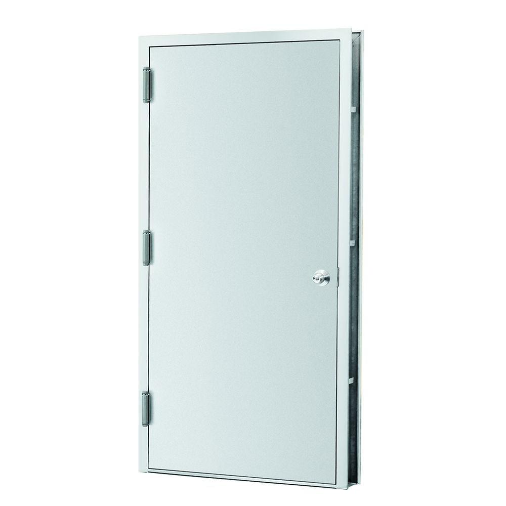 L I F Industries 32 In X 80 In Gray Right Hand Fire Steel Prehung Commercial Door 2rk The