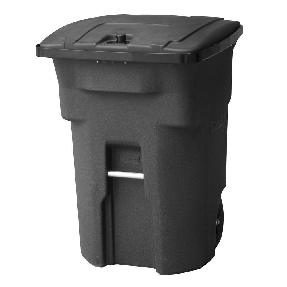 Black Bear Tight Wheeled Trash Can