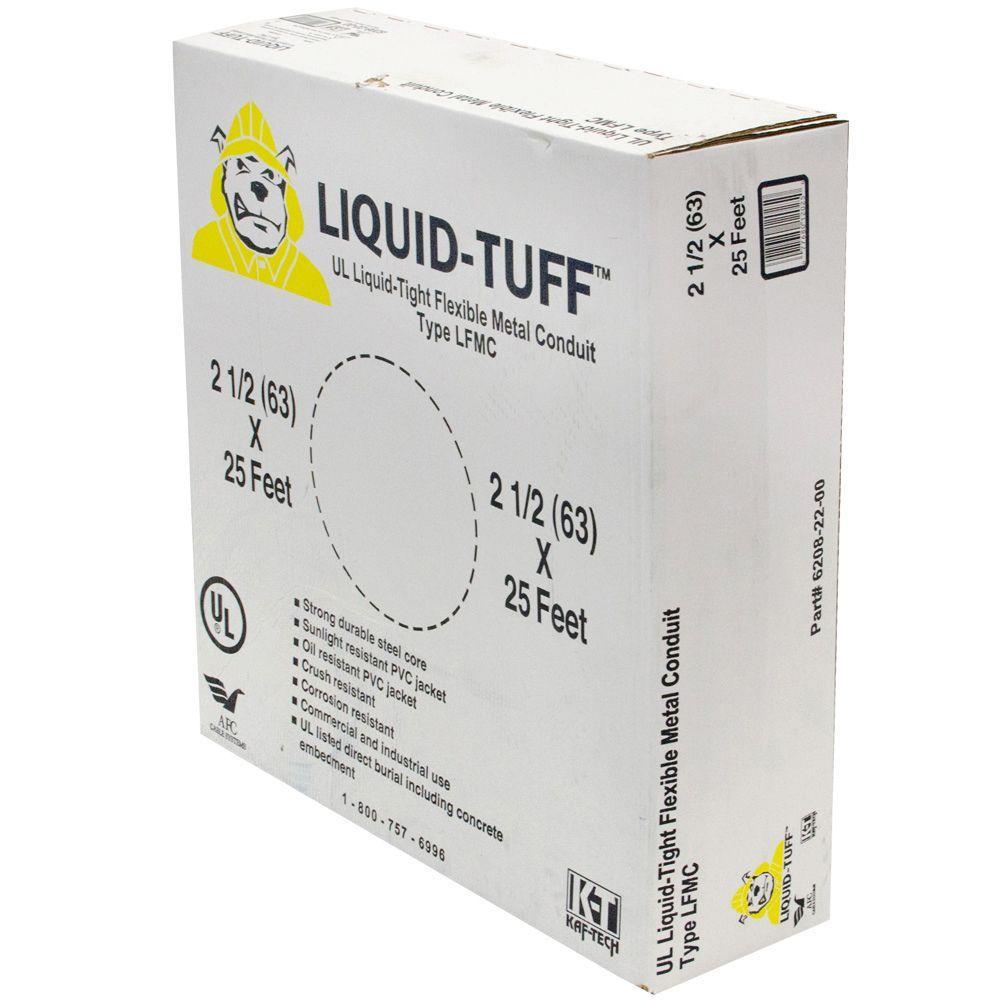 Liquid Tight 2-1/2 x 25 ft. Flexible Steel Conduit
