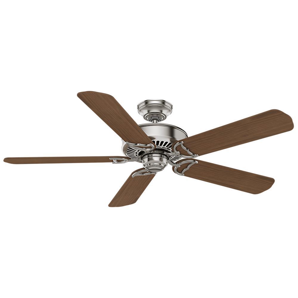 Casablanca Ceiling Fans : Casablanca panama in indoor brushed nickel ceiling fan