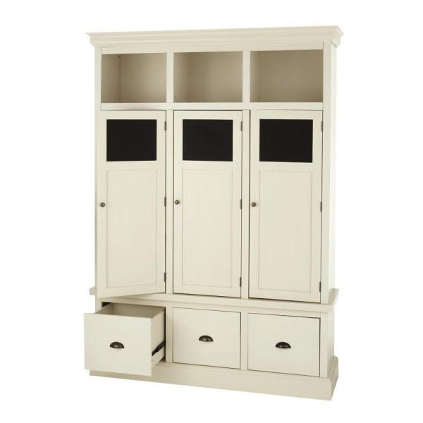 Beau Home Decorators Collection Shelton Polar White Wooden Storage Locker With 3  Doors And 3 Drawers 9608600400   The Home Depot