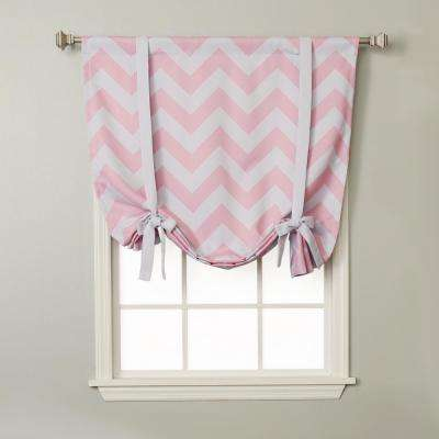 Chevron 42 in. W X 63 in. L Drapery Panel in Pink