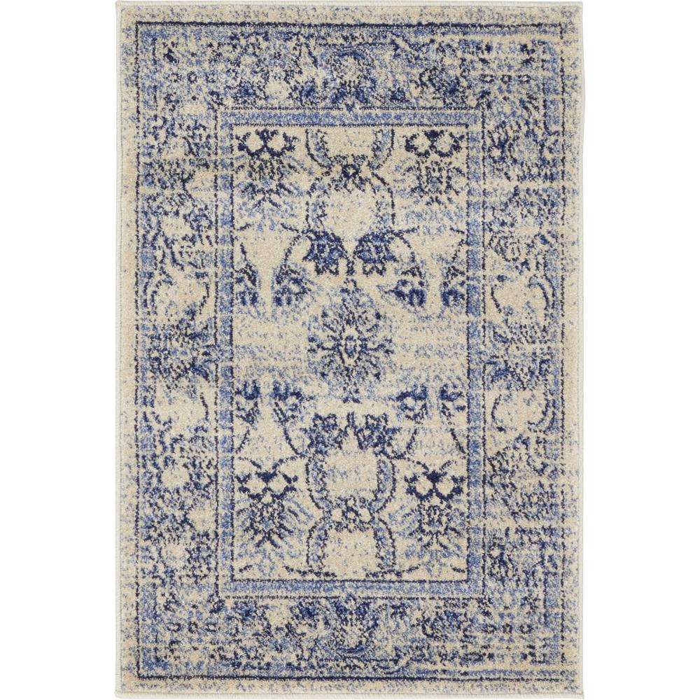 Unique Loom La Jolla Botanica Blue 2 2 X 3 0 Area Rug
