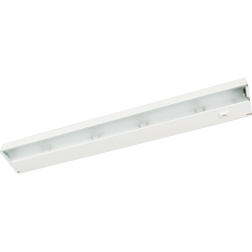 Trim To Hide Undercabinet Lights: Progress Lighting Hide-a-Lite III Collection 4-Light White