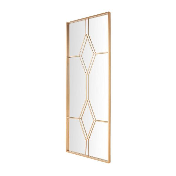 Home Decorators Collection - Oversized Gold Metal Frame Windowpane Classic Floor Mirror (70 in. H x 29 in. W)