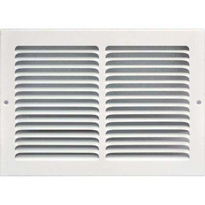 14 in. x 8 in. Return Air Vent Grille, White with Fixed Blades