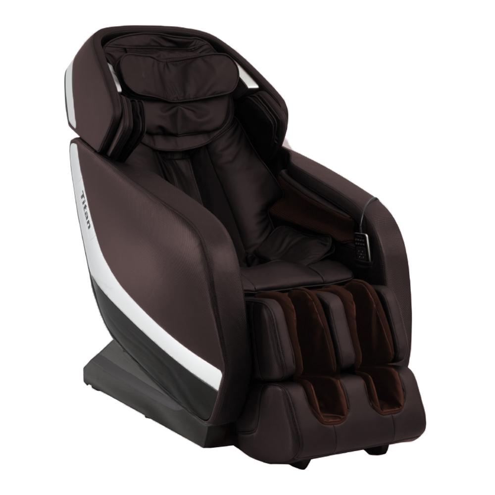 Pro Jupiter XL Series Brown Faux Leather Reclining Massage Chair with 3D L-Track, Bluetooth Speakers, XL Height Capacity was $3995.0 now $2499.0 (37.0% off)