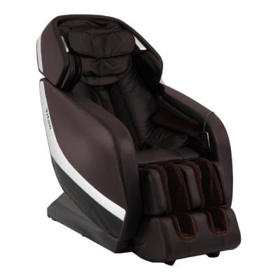 Pro Jupiter XL Series Brown Faux Leather Reclining Massage Chair with 3D L-Track, Bluetooth Speakers, XL Height Capacity
