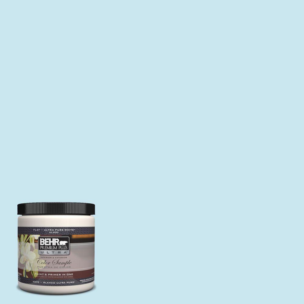 BEHR Premium Plus Ultra 8 oz. #530C-2 Clear Water Interior/Exterior Paint Sample