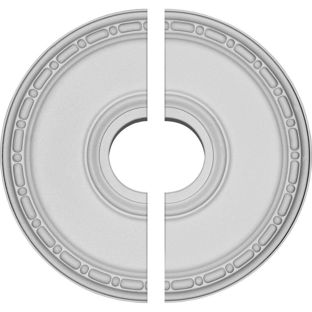 16-1/2 in. O.D. x 3-7/8 in. I.D. x 1-1/2 in. P Medea Ceiling Medallion (2-Piece)