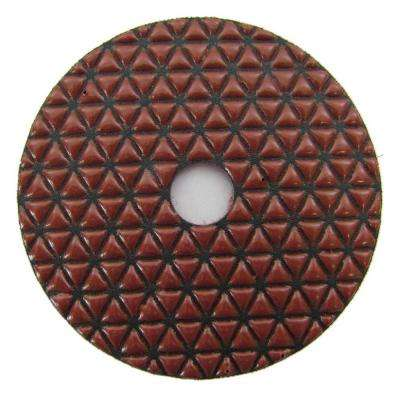 4 in. #100 Grit Dry Diamond Polishing Pad for Stone