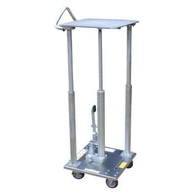 500 lb. Capacity 18 in. x 18 in. Partially Stainless Steel Hydraulic Post Table