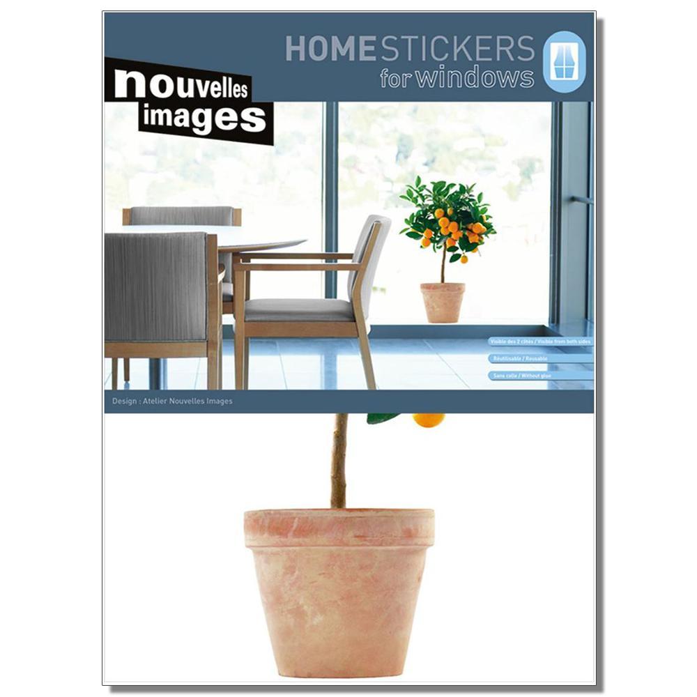 Multicolor XL Orange Tree Home Sticker