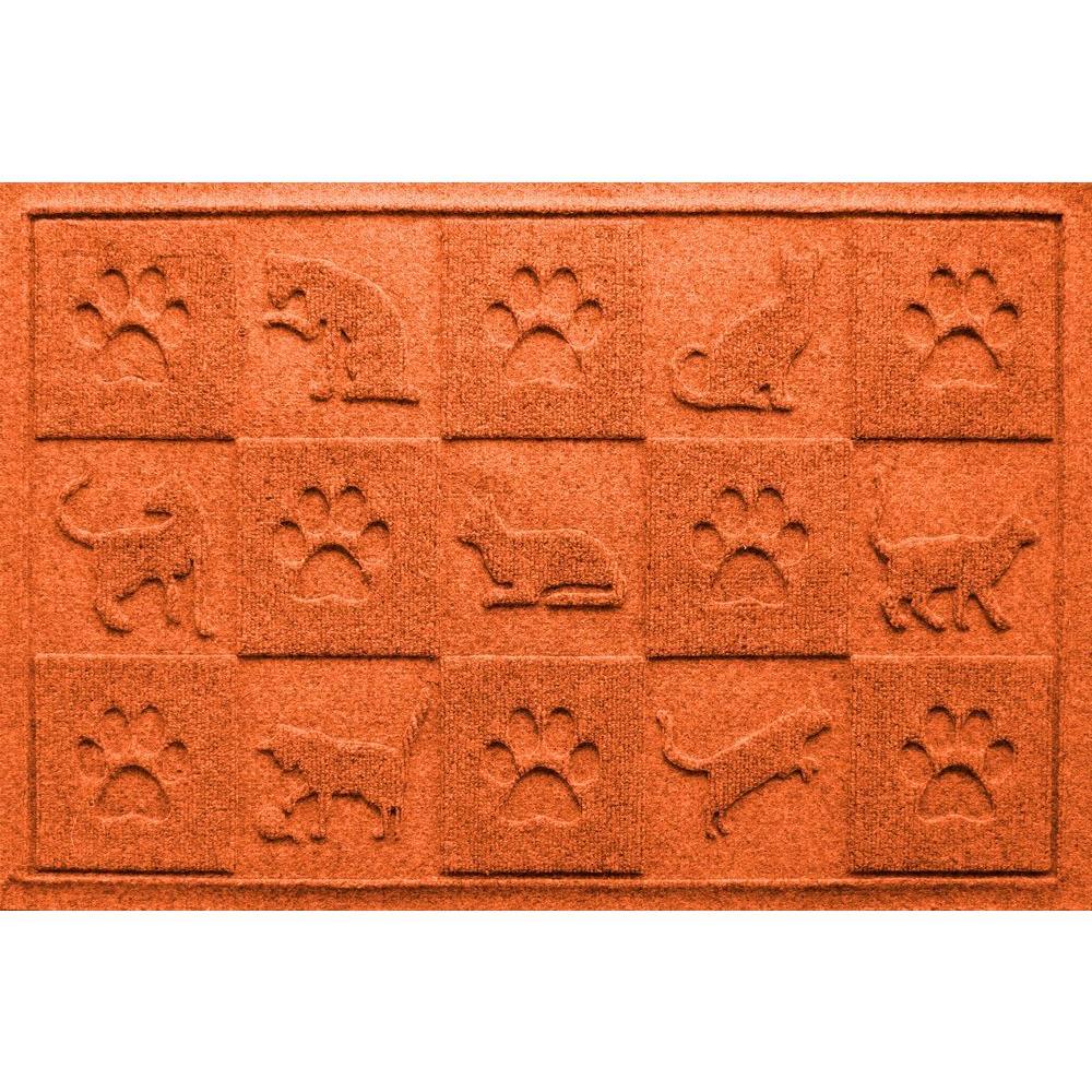 Orange 24 in. x 36 in. Cat in the Mat Pet Mat