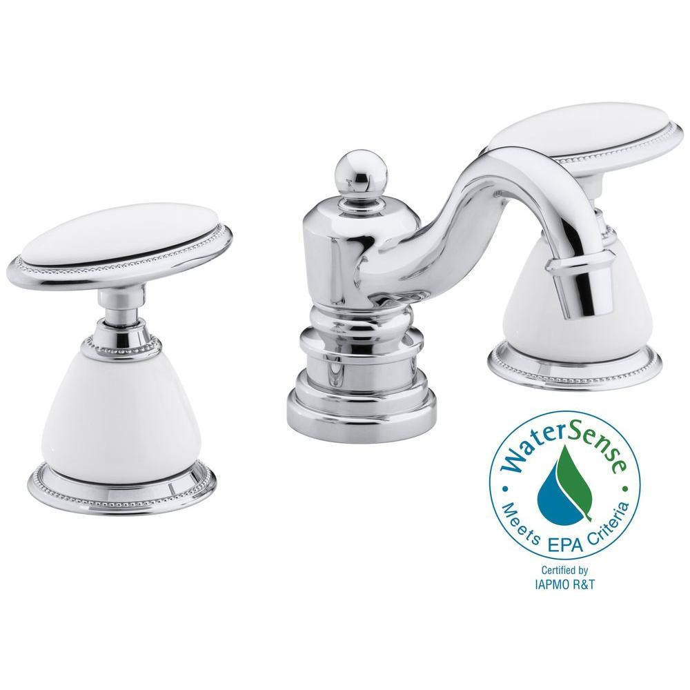KOHLER Antique 8 in. Widespread 2-Handle Low-Arc Bathroom Faucet in ...