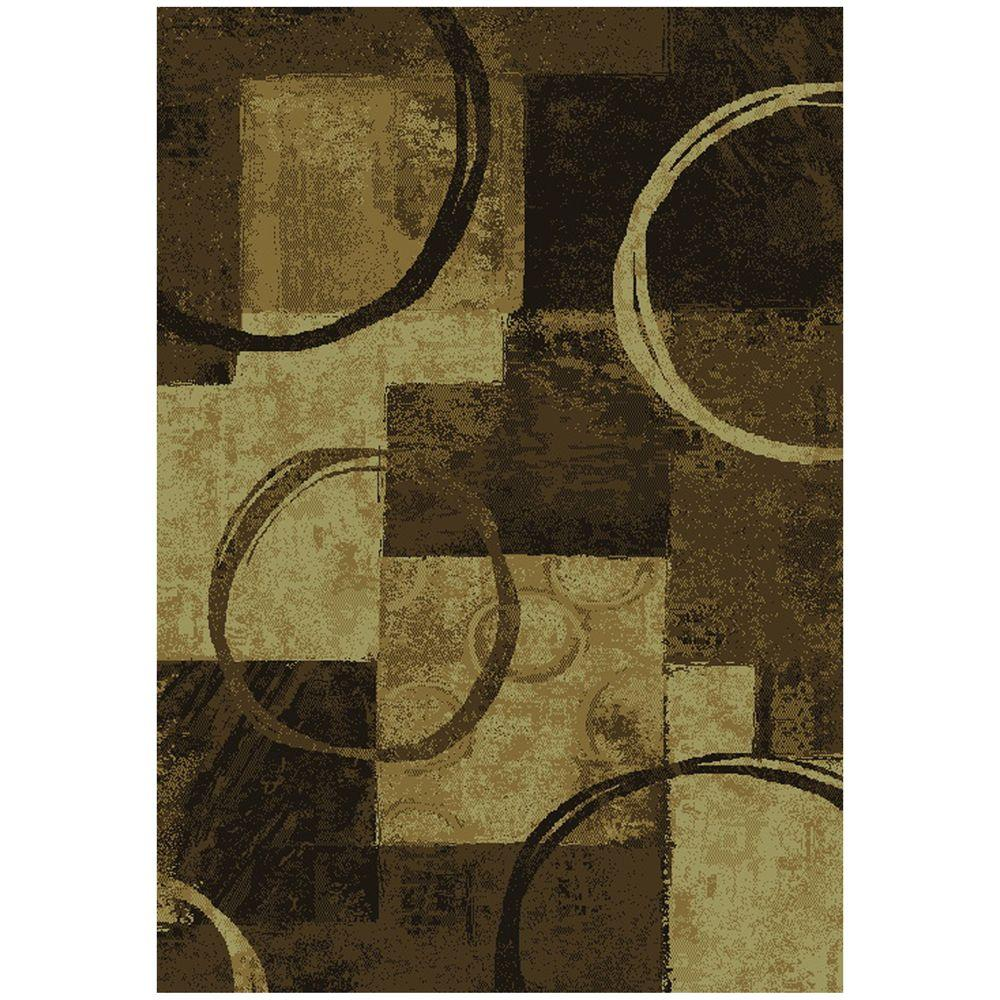 Spin Earth 7 ft. 8 in. x 10 ft. 10 in. Area Rug