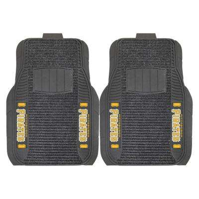 MLB Pittsburgh Pirates Black Heavy Duty 2-Piece 20 in. x 27 in. Vinyl Car Mat