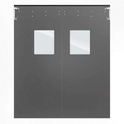 Optima 1/4 in. x 60 in. x 84 in. Single-Ply Light Gray Impact Door