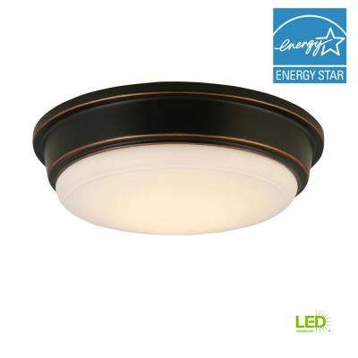Oil Rubbed Bronze Integrated LED Outdoor Flush Mount